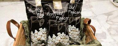 Charlie's Truffled Popcorn inside a tray