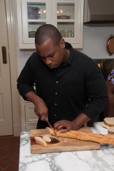 Chef Antonio at work in Susan's kitchen