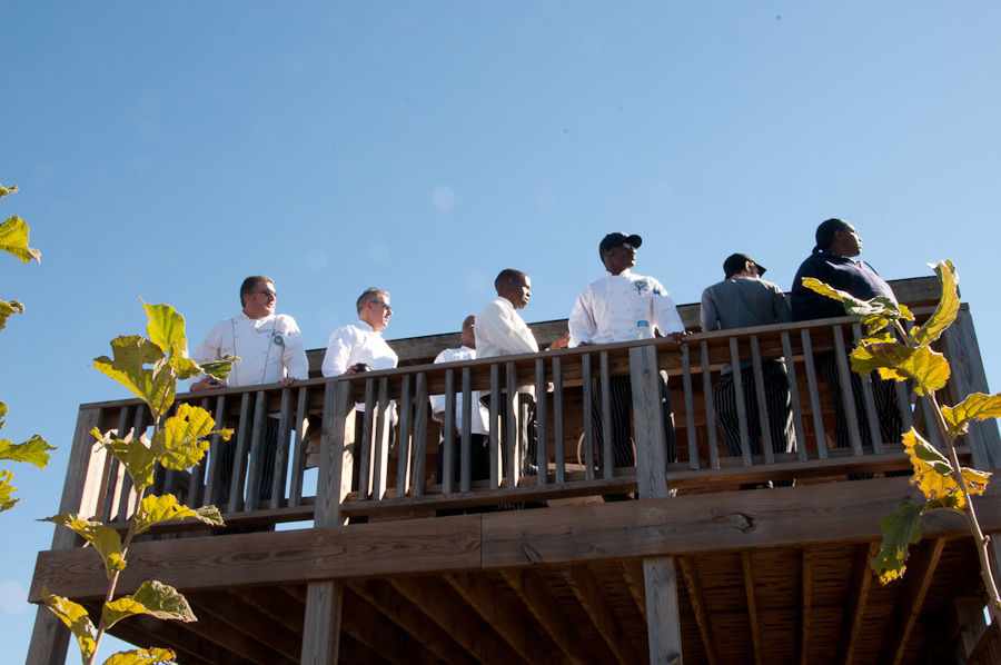 FTCC Culinary Students at the Farm