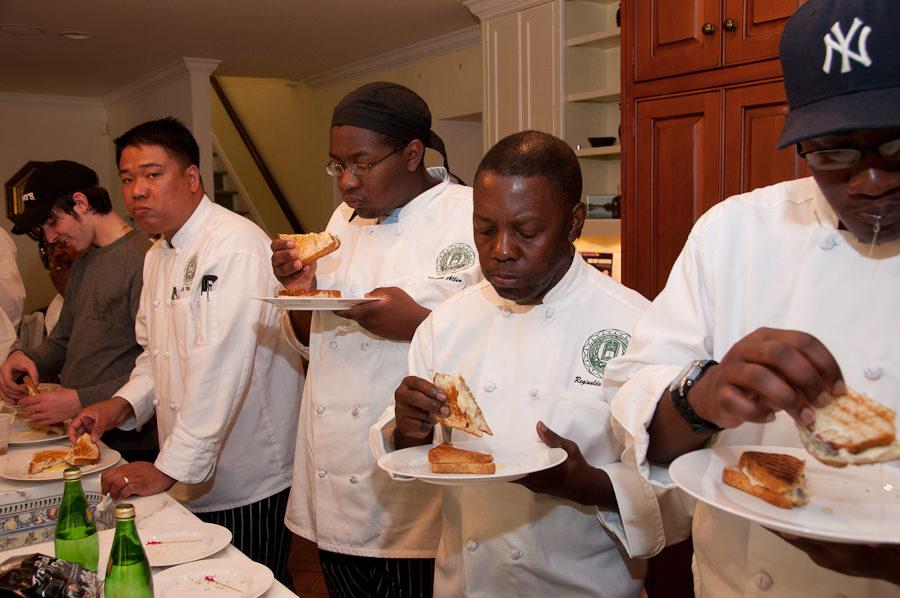 FTCC Culinary Students enjoying truffles