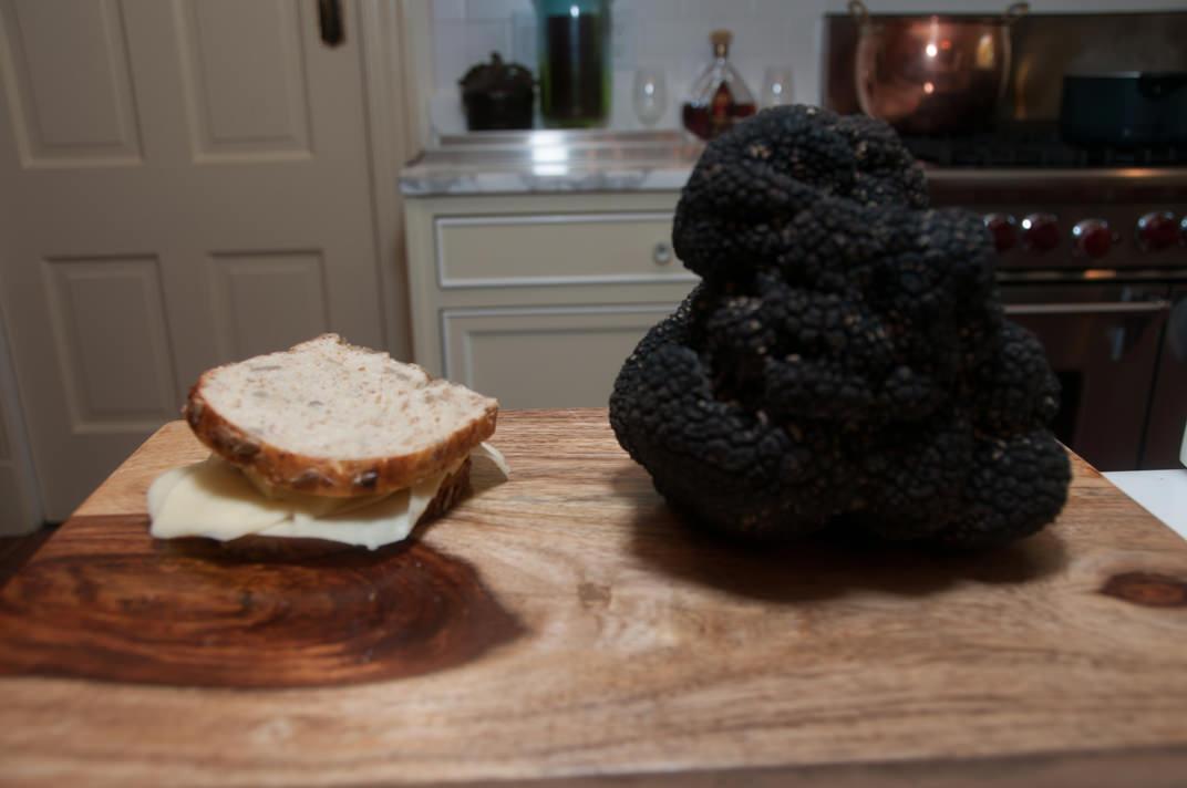 Large, beautiful truffle