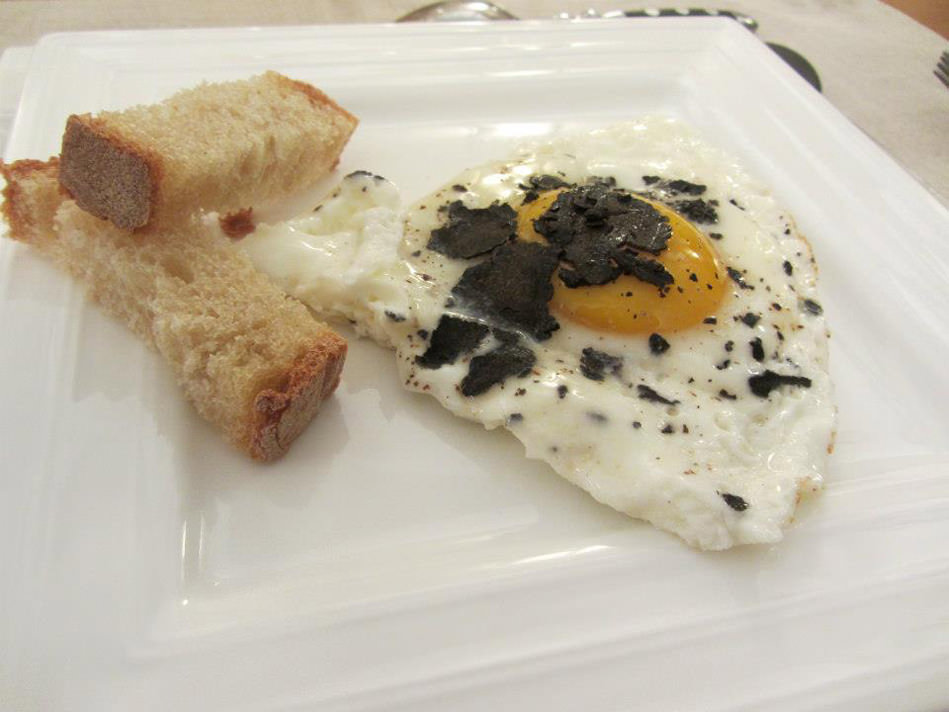 Susan-France truffled eggs
