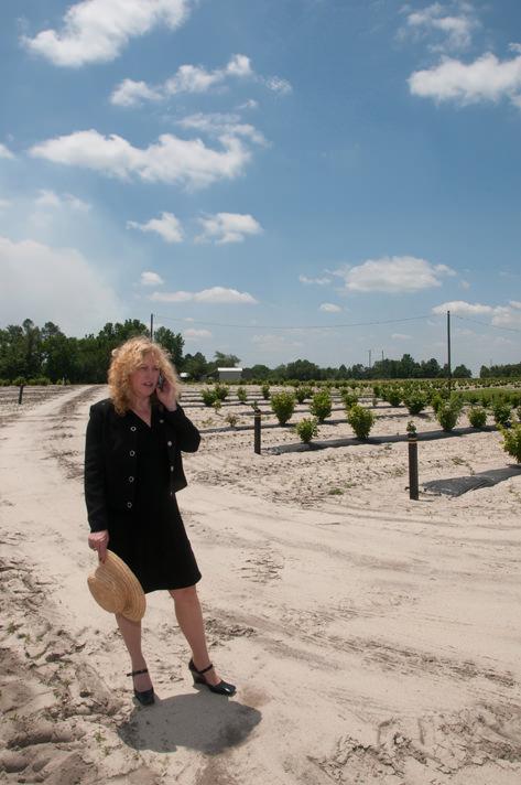 Susan on the farm