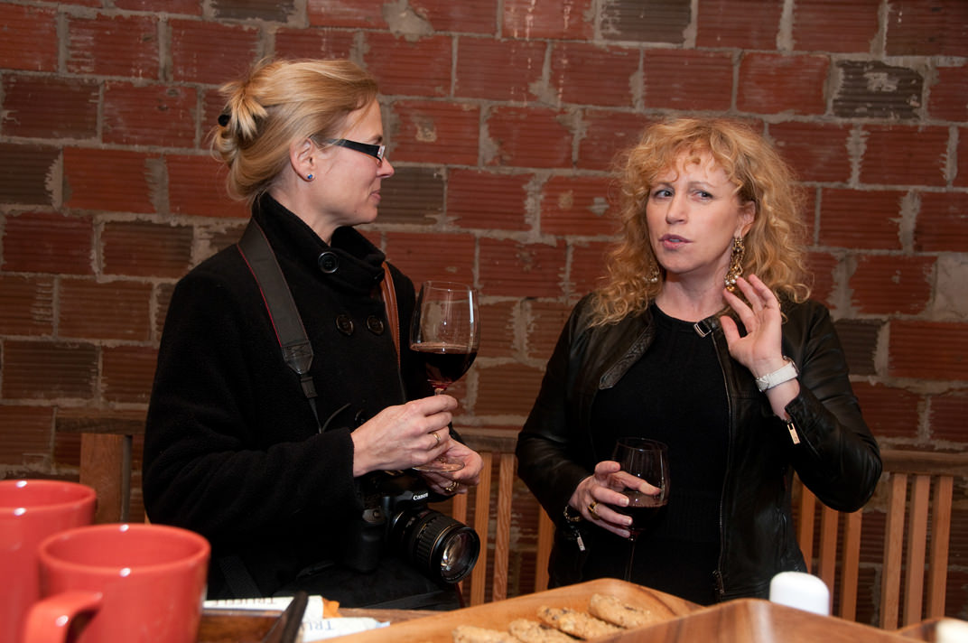 Susan with French journalist