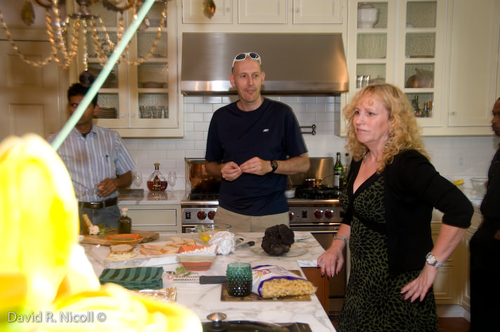 Susan working in the kitchen