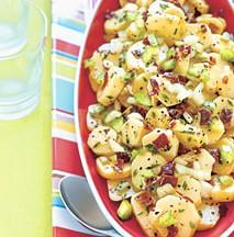 Yukon Gold Potato Salad with Crispy Prosciutto and Truffle Oil
