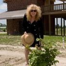 Susan at the farm