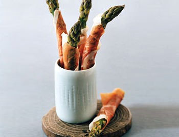Prosciutto-Wrapped Asparagus with Truffle Butter
