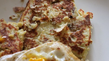 Truffled Potato Pancakes With Fried Eggs