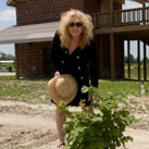Susan at the farm