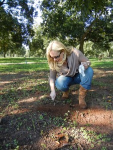 Susan Alexander digging for truffles