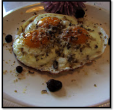 French Style Truffled Sunny Side Up Eggs
