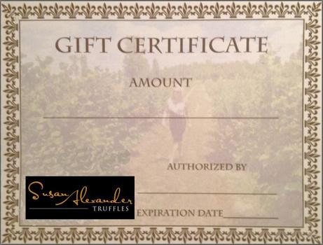 susan alexander truffles gift certificate