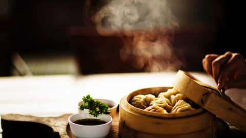 Hot dimsum on the table